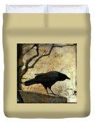 Curious Crow Duvet Cover