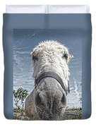 Curious Donkey Duvet Cover