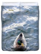 Curious Duck Duvet Cover