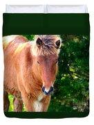 Curious Foal Duvet Cover