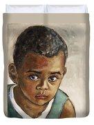 Curious Little Boy Duvet Cover