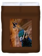 Curious Peacock Digital Art Duvet Cover