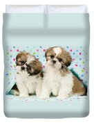 Curious Twins Duvet Cover