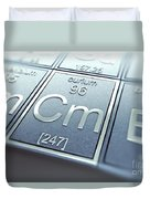 Curium Chemical Element Duvet Cover
