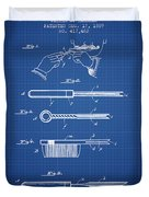 Curling Tongs Patent From 1889 - Blueprint Duvet Cover
