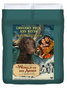 Curly Coated Retriever Art - The World In His Arms Movie Poster Duvet Cover