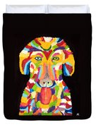 Curly Colorful Retriever Duvet Cover