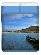 Curragh Moored At Dooega Village Duvet Cover
