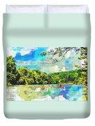Current River Mo - Digital Paint II Duvet Cover