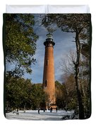 Currituck Beach Lighthouse Corolla Nc Color Img 3772 Duvet Cover