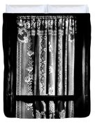 Curtain In Black And White Duvet Cover