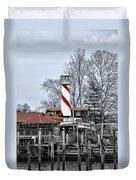 Curtin's Wharf Burlington New Jersey Duvet Cover