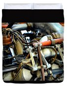 Curtiss Ox-5 Airplane Engine Duvet Cover by Michelle Calkins