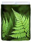 Curved Fern Leaf Duvet Cover