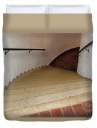 Curved Stairway At Brandywine River Museum Duvet Cover