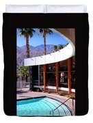 Curves Ahead Ocotillo Lodge Palm Springs Duvet Cover