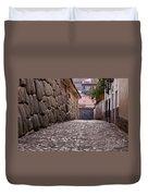 Cusco City Street Duvet Cover