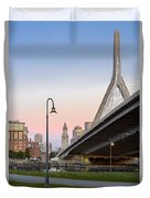 Custom House And Zakim Bridge Duvet Cover