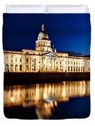 Customs House At Night / Dublin Duvet Cover by Barry O Carroll