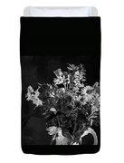 Cut Flowers In Monochrome Duvet Cover