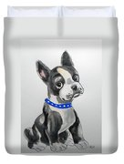 Boston Terrier Wall Art Duvet Cover
