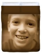 Cute Boy Smiling Duvet Cover
