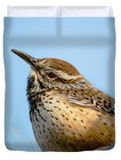 Cute Cactus Wren Duvet Cover by Robert Bales
