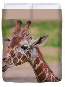 Cute Giraffe Portrait  Duvet Cover