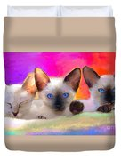 Cute Siamese Kittens Cats  Duvet Cover