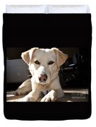 Cute White Dog Duvet Cover