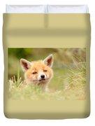 Cutie Face _red Fox Kit Duvet Cover