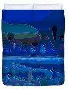 Cutout Art Blue Landscape Duvet Cover