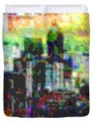 Cutout Art City Optimist Duvet Cover