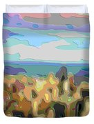 Cutout Art Ocean Skyline Duvet Cover