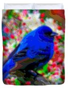 Cutout Layer Art Animal Portrait Bird Blue Duvet Cover