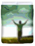 Cutout Layer Art Uplifted Duvet Cover