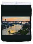 Cuyahoga River Cleveland Ohio Duvet Cover