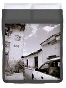 The Streets Of Cuzco Duvet Cover