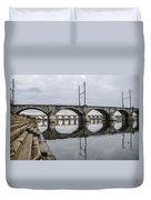 Cv - Susquehanna River Bridge Harrisburg  Pennsylvania Duvet Cover