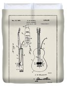 Cw Russell Acoustic Electric Guitar Patent 1939 Duvet Cover