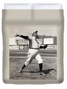 Cy Young - American League Pitching Superstar - 1908 Duvet Cover
