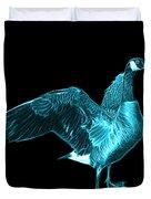 Cyan Canada Goose Pop Art - 7585 - Bb  Duvet Cover
