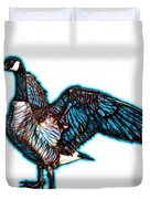 Cyan Canada Goose Pop Art - 7585 - Wb Duvet Cover