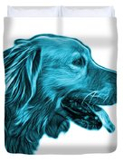 Cyan Golden Retriever - 4047 Fs Duvet Cover