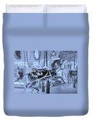 Cyan Horse Duvet Cover