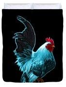 Cyan Rooster Pop Art - 4602 - Bb - James Ahn Duvet Cover