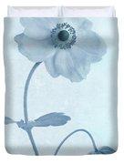 Cyanotype Windflowers Duvet Cover