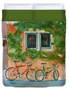 Cycle Cafe Duvet Cover