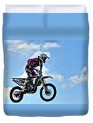 Cycle In The Air Duvet Cover