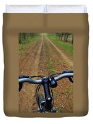 Cycling In The Country Duvet Cover